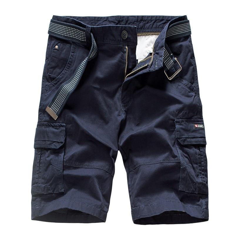 2020 летние новые мужские камуфляжные хлопковые шорты Карго с карманами, мужские свободные шорты 38 больших размеров, модные мужские шорты с н...