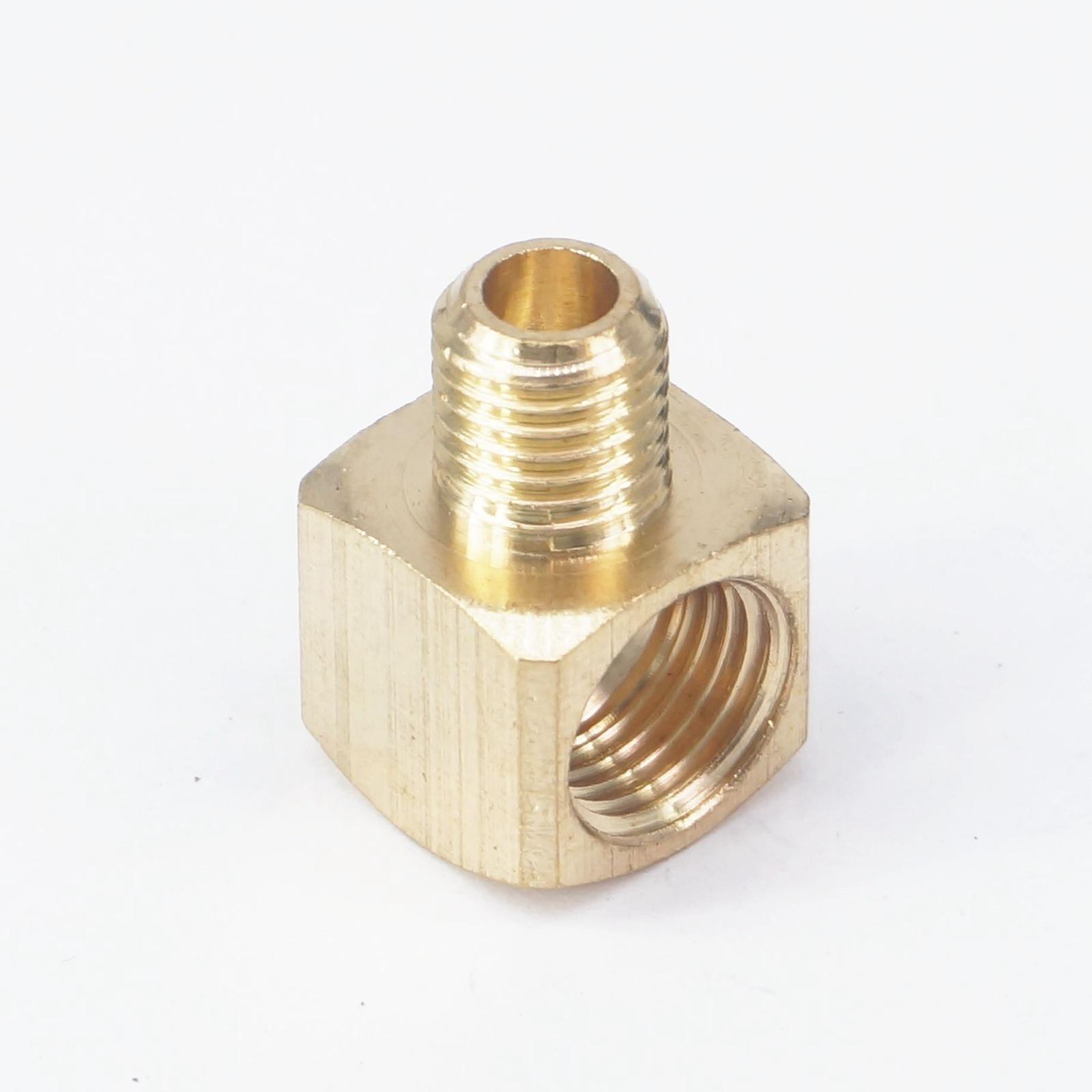 Conector de instalación de tuberías de latón codo de 90 grados de hilo femenino adaptador de manguera M8 macho a M10x1mm