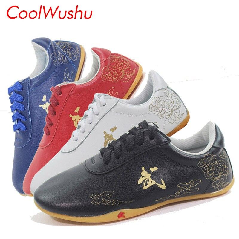 chinese tai chi shoes kung fu shoes wu shu xie taiji xie cow leather cow Muscle Martial arts shoes CoolWushu