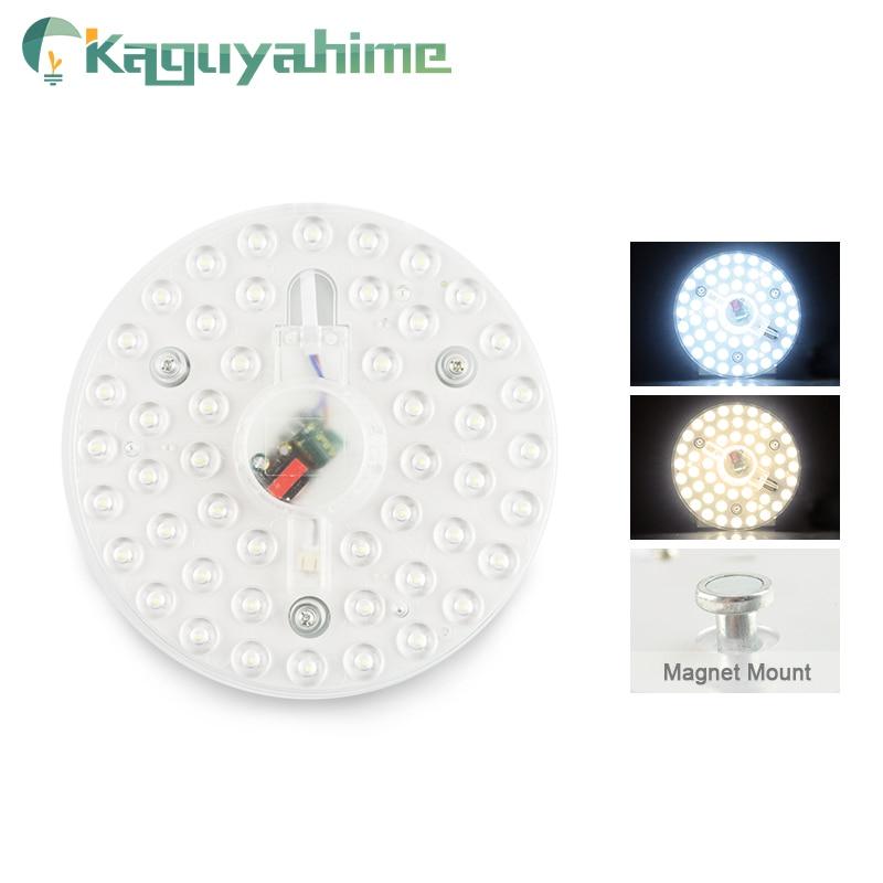Kaguyahime imán módulo LED Panel de luz para techo 220V 12W 18W 24W LED Circular del punto del techo downlight reemplazar tubo de la lámpara de la bombilla