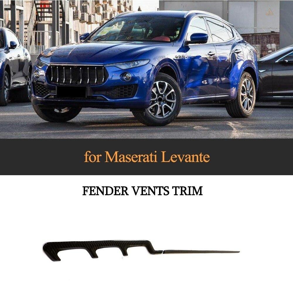 4 unids/set guardabarros de ventilación para Maserati Levante Base Sport S Sport diésel Sport 2017 2018 ventiladores de fibra de carbono