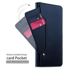 Pour BlackBerry KEY2 LE étui en cuir PU étui portefeuille à rabat avec miroir et béquille et poche pour carte pour BlackBerry KEY2 LE téléphone