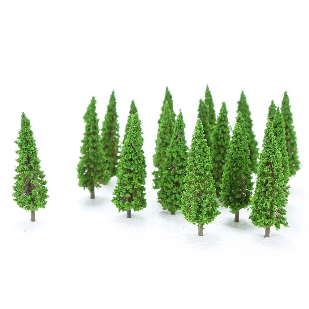 150 Uds escala Ho árboles de plástico en miniatura para la construcción de trenes diseño de vías de ferrocarril paisaje accesorios de paisaje juguetes para niños