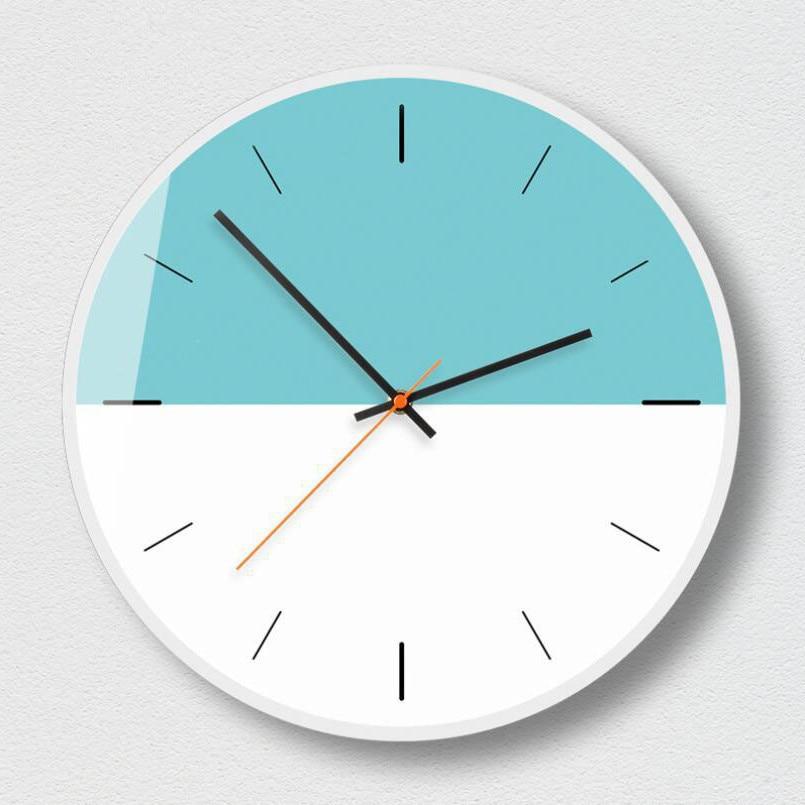 New 3D Wall Clock 12inch/14inch Nordic Style Literary Decorative Clock Modern Design Geometric Fashion Wall Clock For Home Decor