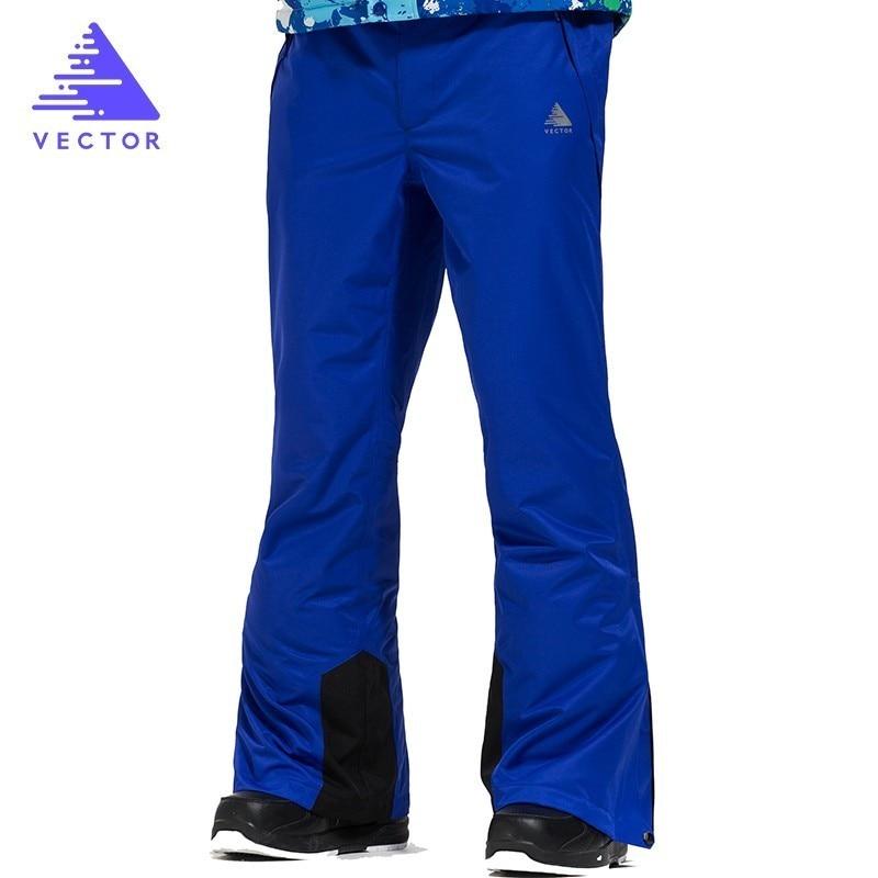 Pantalones de esquí profesionales de VECTOR para hombres a prueba de viento impermeable esquí snowboard pantalones al aire libre invierno nieve pantalones HXF70016