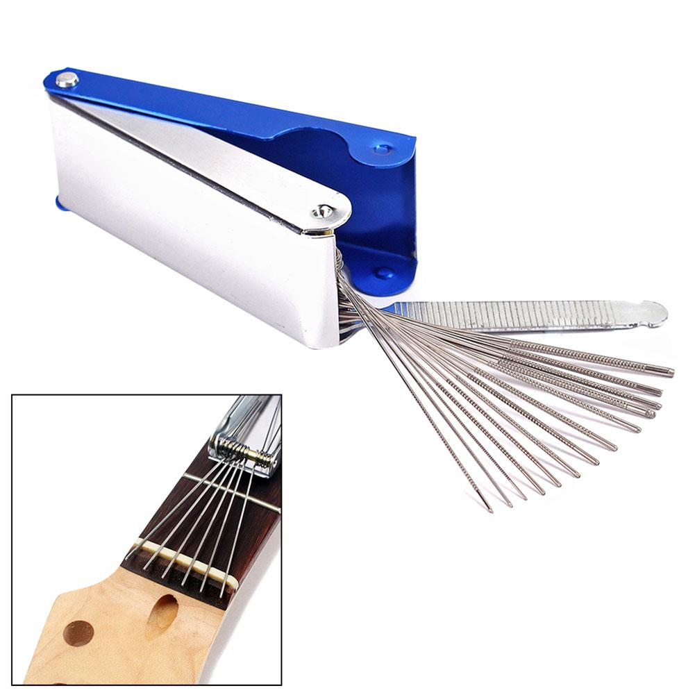 Herramientas de reparación de Guitarra portátil DIY, caja de tuercas de Guitarra, barras de sierra de archivo, ranura, conjunto de archivo, Luthier, accesorios de Guitarra de repuesto
