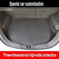 ZHAOYANHUA Custom fit Car Trunk mats for Ford Focus Escort Titanium Mondeo Fiesta S-max Raptor Cobra Eco  car styling carpet
