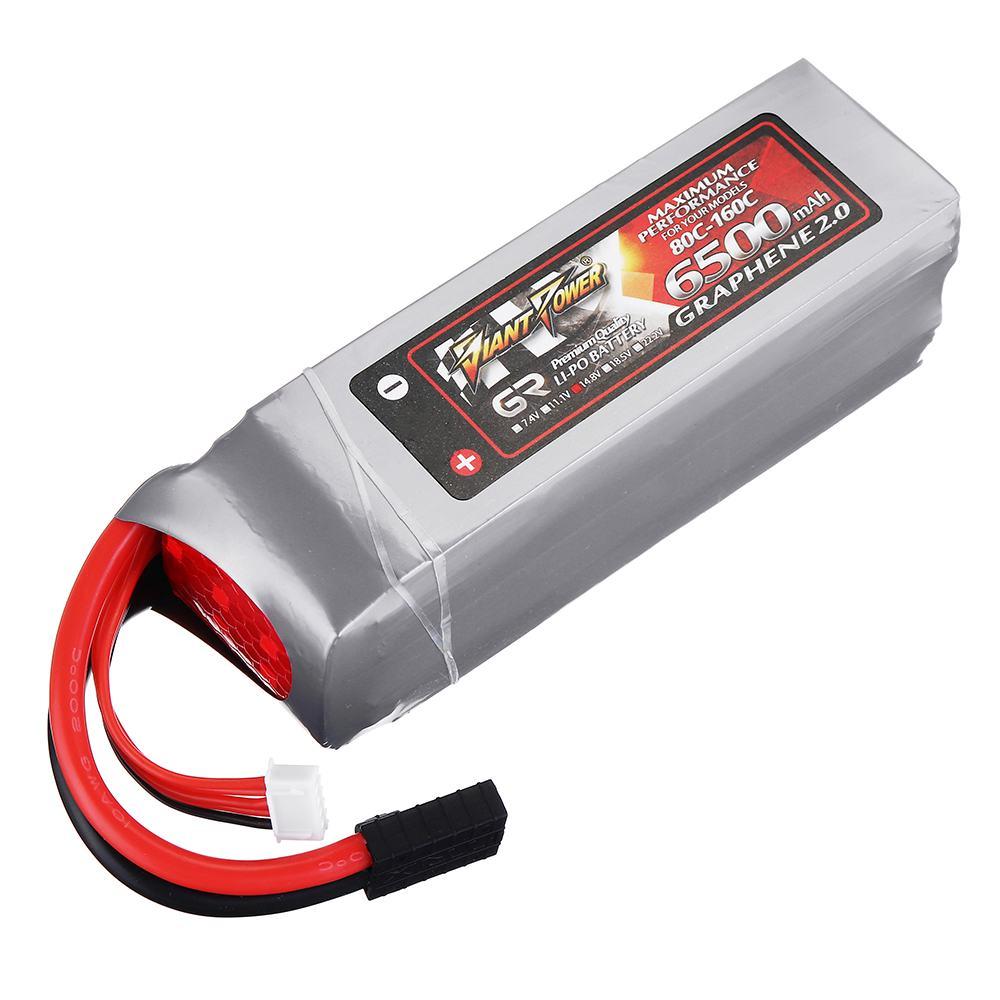 Batería Lipo POWER GRAPHENE 2,0 14,8 V 6500mah 80C 4S para Traxxas 15 x-maxx pieza de repuesto de coche teledirigido DIY Accesorios