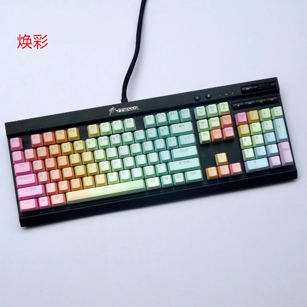 غطاء مفاتيح بي بي تي بي بي بي بي بي-صبغ لون مزدوج شفاف غطاء مفاتيح ميكانيكي لكراسير K65 K70 لوجيتك G710 + OEM ارتفاع