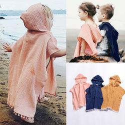 Pudcoco Kleinkind Kinder Baby Mädchen Solide Lange Cape Kleid Mit Kapuze Quaste Mantel Poncho Jumper Kleidung