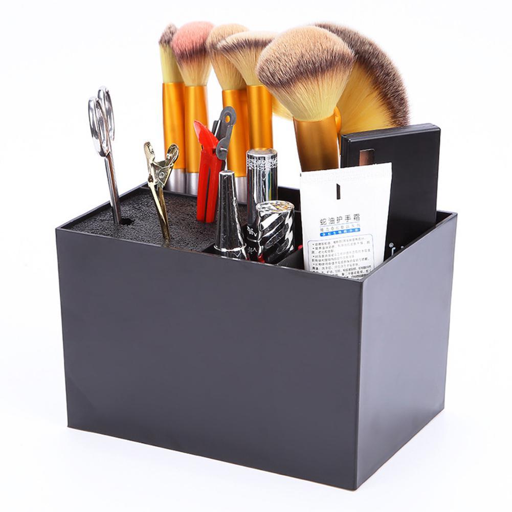 1pc cabeleireiro tesoura titular fantasia pente caso antiderrapante grampos de cabelo ferramentas de cabelo suporte acessórios caixa de armazenamento