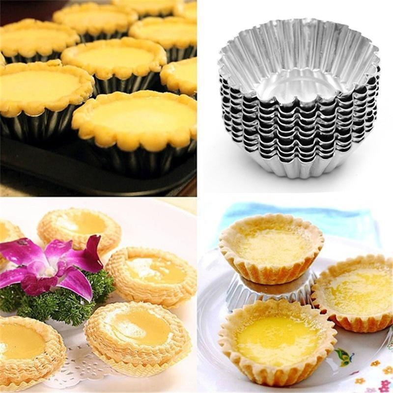 10 шт. антипригарная пульсация из алюминиевого сплава Форма для яиц в форме цветка многоразовая чашка для выпечки кексов и маффинов