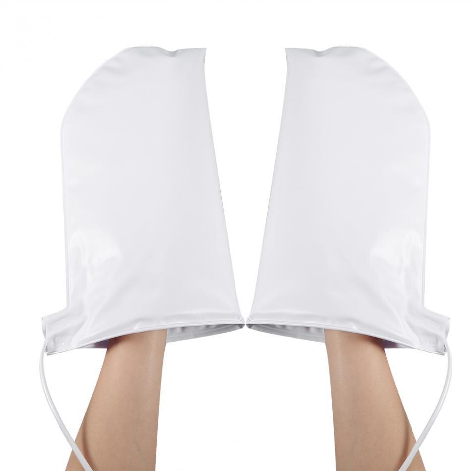 Luvas de manicure da mão do prego elétrico luvas aquecidas tratamento de terapia de cera infravermelha spa mais quente para o cuidado da mão do pé luvas