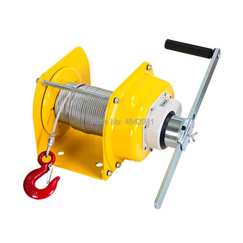 ship from de professional hand winch webbing strap 8m manual operated winch 1500kg truck auto boat trailer lifting tool new 0.5T/1T/2T/3Ton Manual winch Boat truck auto self-locking hand manual Galvanized steel winch hand tool lifting sling