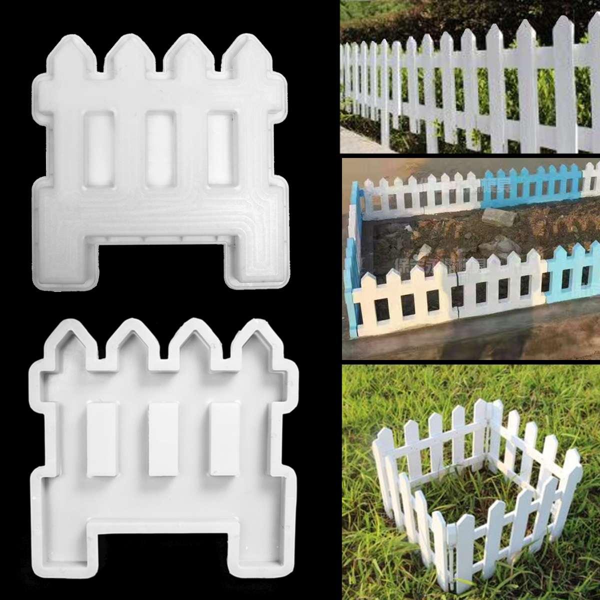Concrete Molds DIY Garden Fence Cement Plastic Mold Green Belt Cement Brick Concrete Mold Great For Paving Molds White