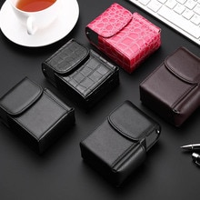 Cigarette Box Lighter Holder Tobacco PU Leather Nice Gift Smoker Smoke Tools  Cigar Case Men Supplie