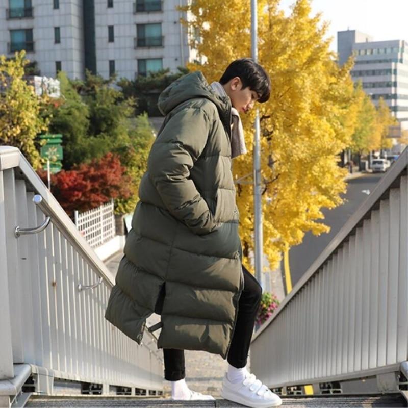 Winter Koreaanse Editie herenkleding Zelfs Hoed Lange Mannelijke Warm Houden Katoen gevoerde Kleding losse grote size Kasjmier verdikte jas