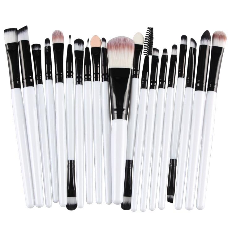 Romántico Oso de pinceles de maquillaje conjunto 20 kits de pelo de nylon suave para sombra de ojos cejas cosméticos cepillo kits 100 set/lote DHL