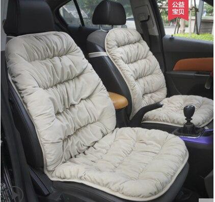 A su gusto, accesorios de coche, cojín universal de terciopelo de cristal para asiento de coche Nissan Patrol Fuga Murano Quest Xtrail Cefiro cálido