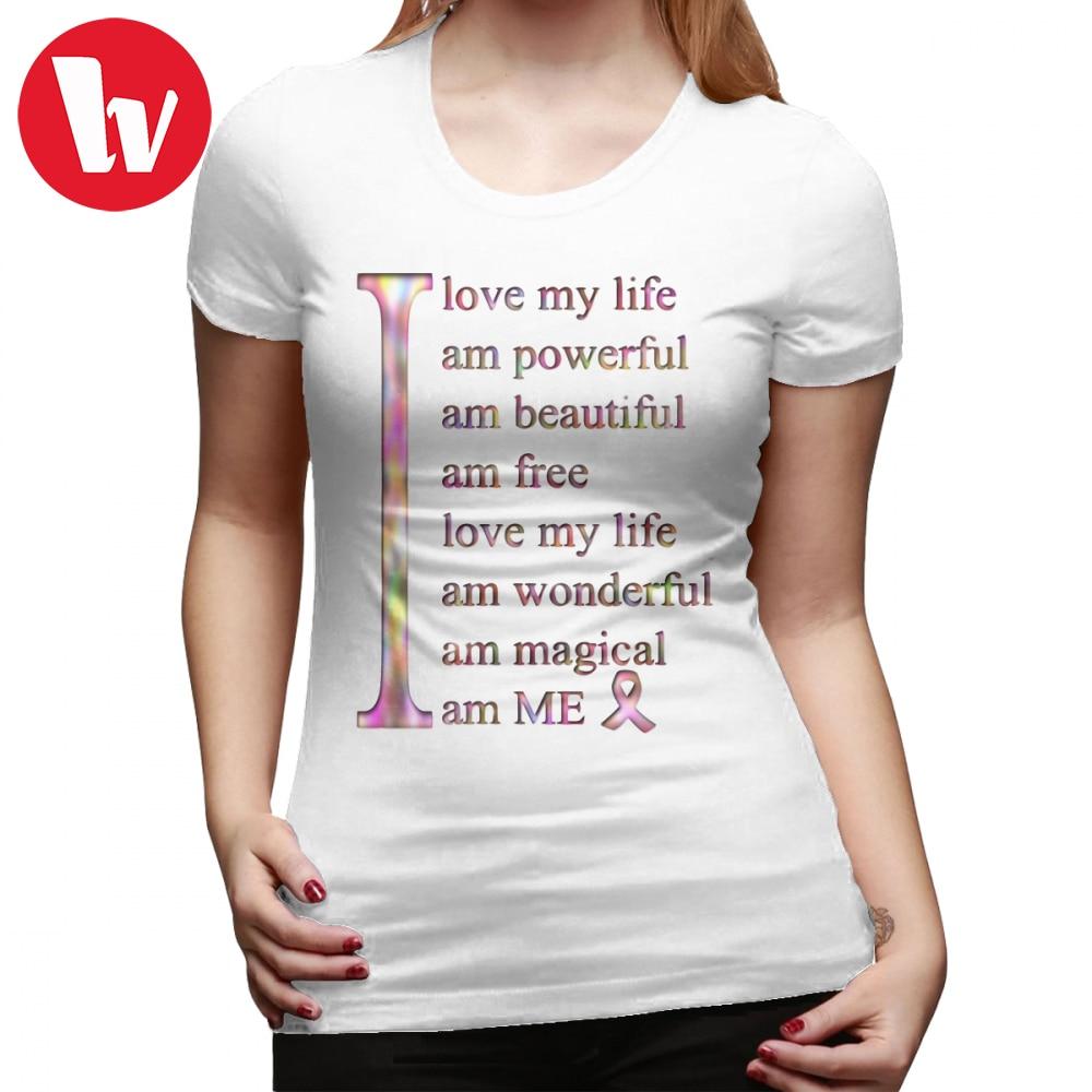 "Camiseta con estampado de ""I Love ME"" de Shenzen Wise, Camiseta de algodón para mujer de talla grande, cuello redondo sencillo, camiseta negra de manga corta para mujer"