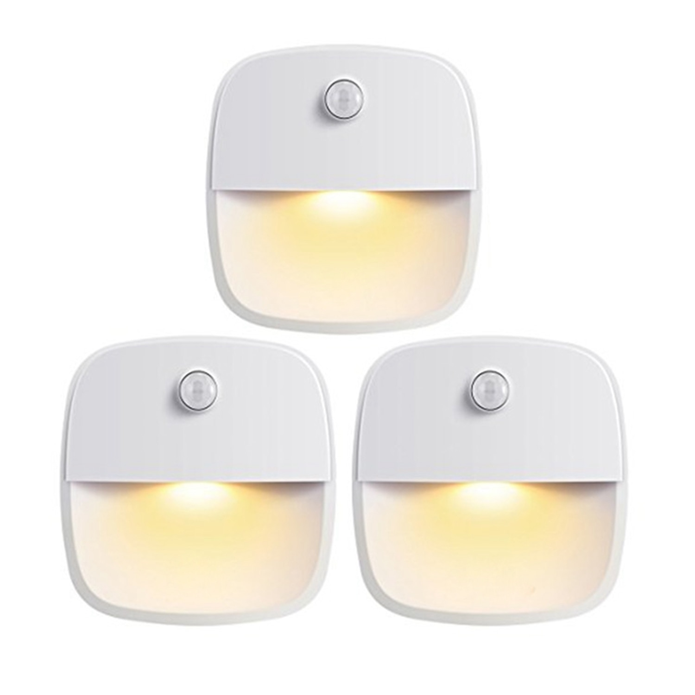 Luz Nocturna Led, Blanco cálido, Sensor de movimiento, palo en cualquier lugar, luz de armario, luz de pared para dormitorio, baño, cocina, pasillo,