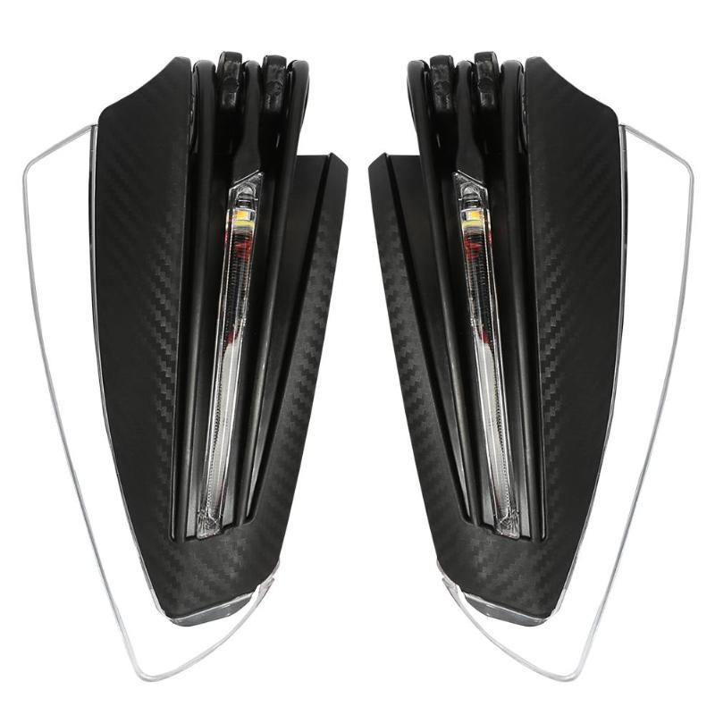 1 par de protectores de mano para motocicleta VODOOL 22mm 7/8 manillar manoplas de motocicleta accesorios piezas con luz de señal de giro