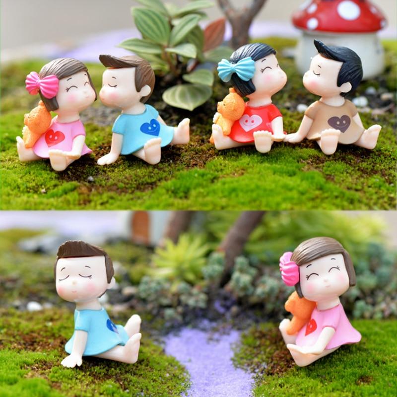 Conjunto de 2 uds./1 de bonita Hada de jardín, artesanía de gran oferta para amantes de la decoración del hogar, figuritas populares de resina en miniatura de alta calidad