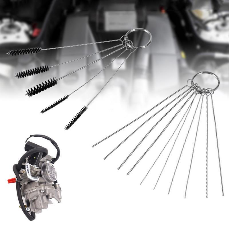 1 Set Motorcycle Carburetor Stainless Steel Cleaning Brush Needle Set Kit New Handheld Cleaning Brushes