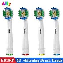 4PCS 3D Whitening Elektrische Tandenborstel heads Vervanging Voor Braun Oral B PRO 500 600 7000 8000 Elektrische Tandenborstel Heads