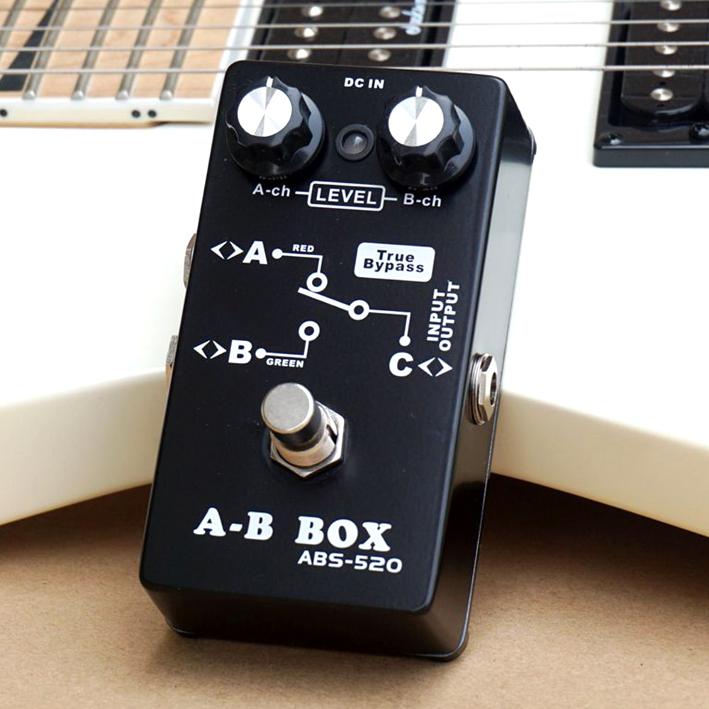 Belcat True Bypass caja de A-B AB caja Stompbox para bajo eléctrico con a-ch, b-ch Control