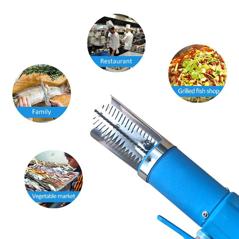 Potente escalador eléctrico de pescado piel deslager escala rascador hoja 1500ma batería de litio recargable herramientas pescado báscula mariscos