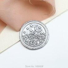 Geometric Star Moon Mountain Wax Seal Stamp, Mystery Sealing Wax Seal, gift Wax Stamp for wedding , wedding invitation seal