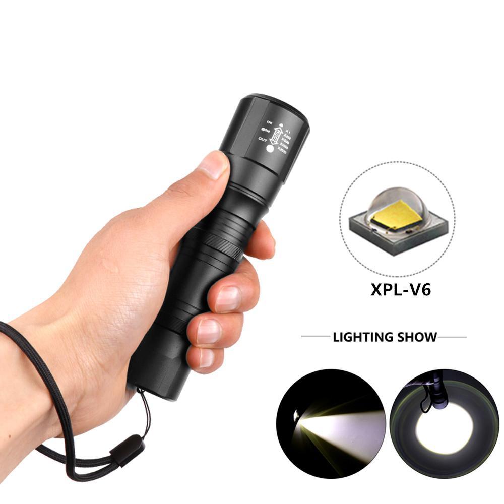 Linterna LED de alta potencia XPL-V6 Linterna con zoom Linterna LED