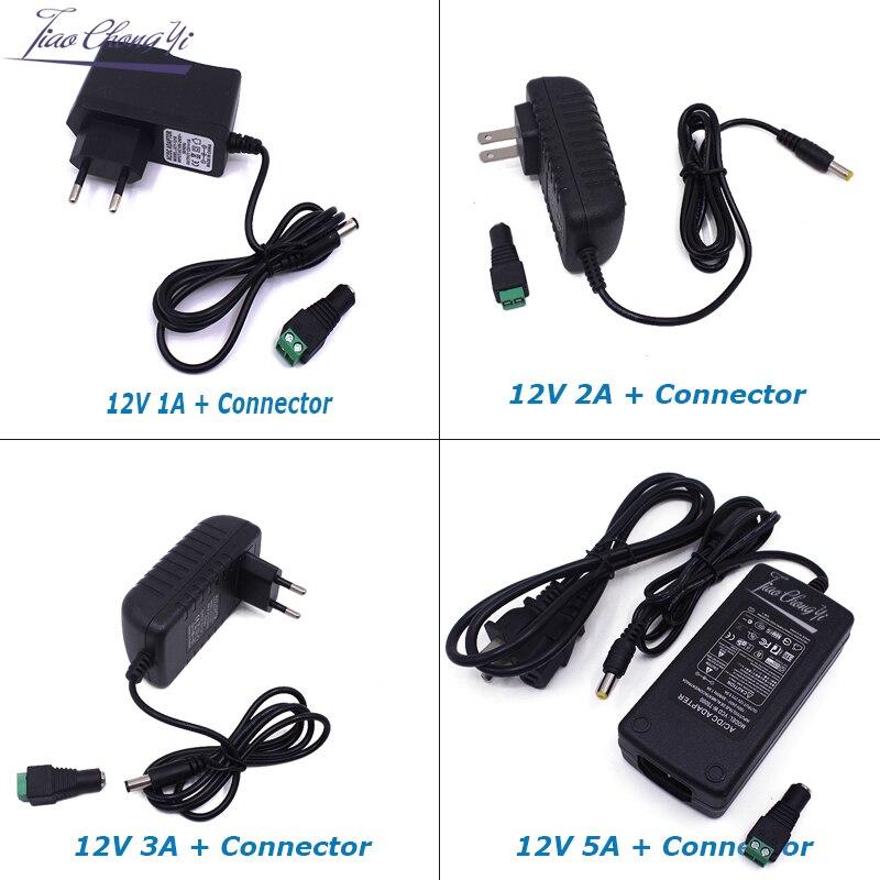 DC12V a AC100-240V transformadores de iluminación salida DC12V 1A 2A 3 5A EU US LED Adapterlight para tira de LED 5630 5050