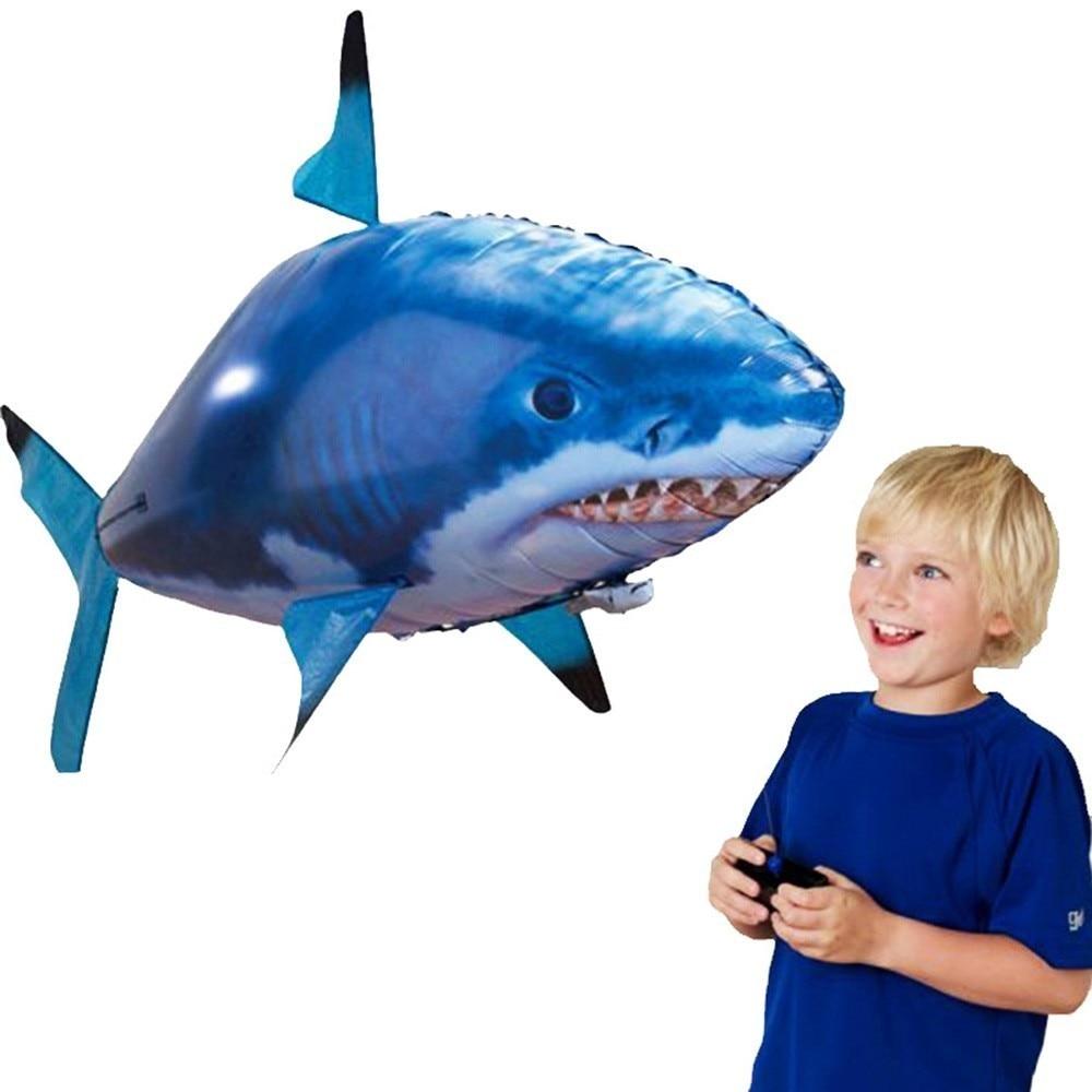 ألعاب حيوانات الأشعة تحت الحمراء, التحكم عن بعد القرش اللعب الهواء السباحة الأسماك RC ألعاب حيوانات الأشعة تحت الحمراء RC يطير الهواء بالونات ...