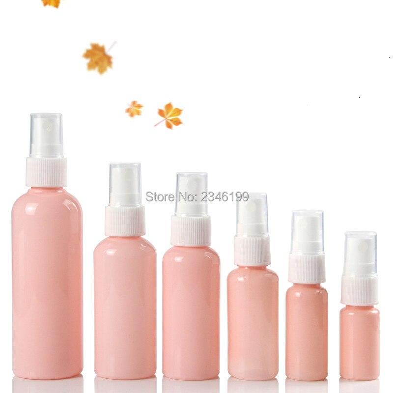 Empty Pink Spray Pump Bottle 50ml Spray Bottle 20ml 30ml Empty Plastic Cosmetic Container 100ml Plastic Spray Bottle 60ml 50pcs