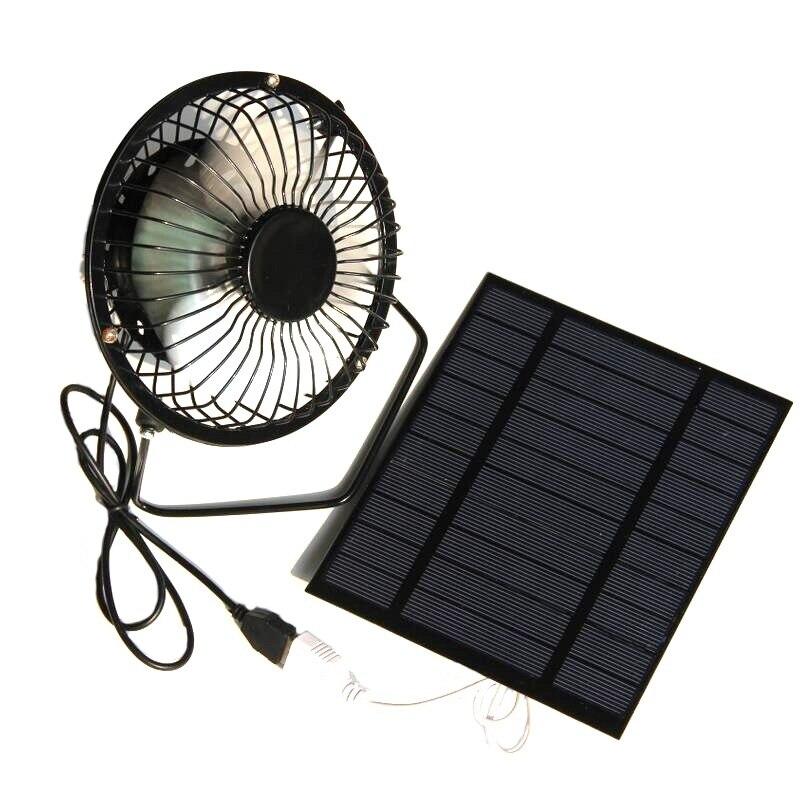 JABS 2 5 Вт В панельный Железный вентилятор на солнечных батареях для дома офиса