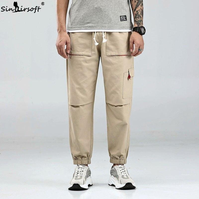 SINAIRSOFT nuevo 2019erkek Pantolon Harem pantalones de calle para hombre Jogging Pantalón deportivo casual Cargo pantalones Bolso grande Suelto