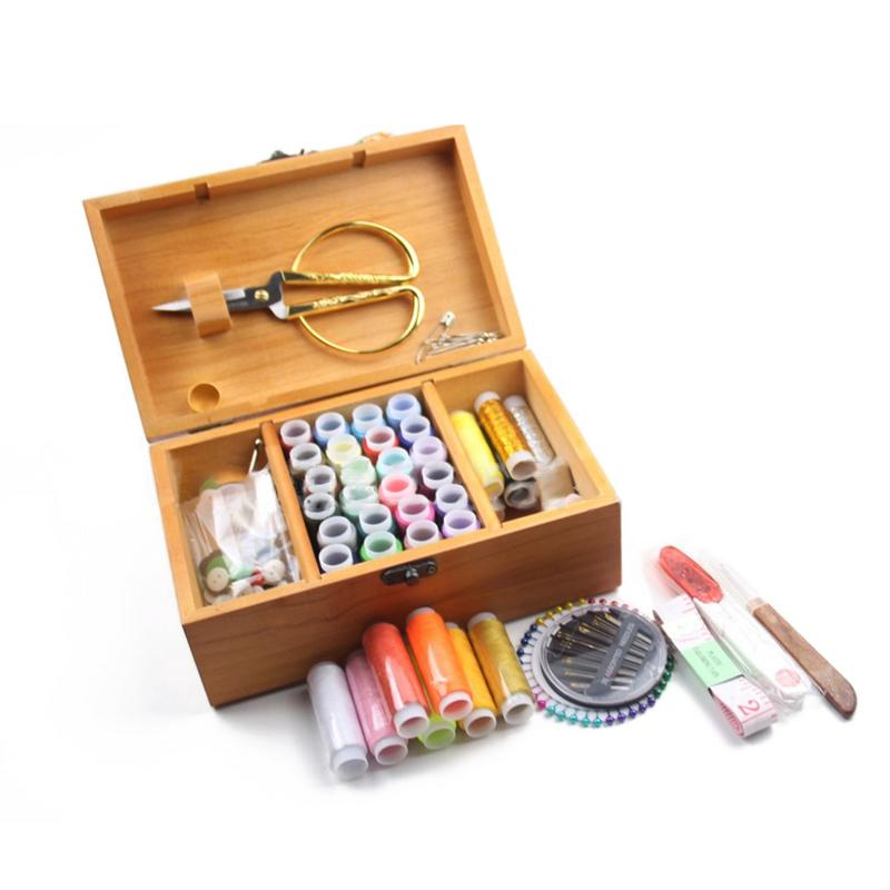 Nuevo 39 colores DIY de coser caja de Multi-función de viaje Kit de costura aguja, hilo cinta tijera bolsa de almacenamiento de coser Kit de accesorios
