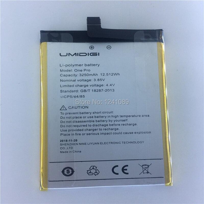 Bateria de smartphone para umidigi one pro, bateria de 3250mah, 5.9 polegadas, tempo de espera longo para celulares umidigi one pro acessórios