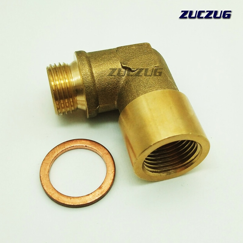 ZUCZUZG 90 grados M18x1.5 O2 Lambda Sensor extensor de Sensor de oxígeno espaciador para Decat hidrógeno latón