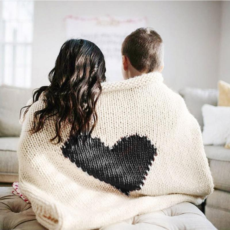 Mantas de bebé tejidas para recién nacidos, manta con patrón de corazón, suave sofá, cuna, edredón, edredón, invierno, Otoño, cochecito de bebé en blanco