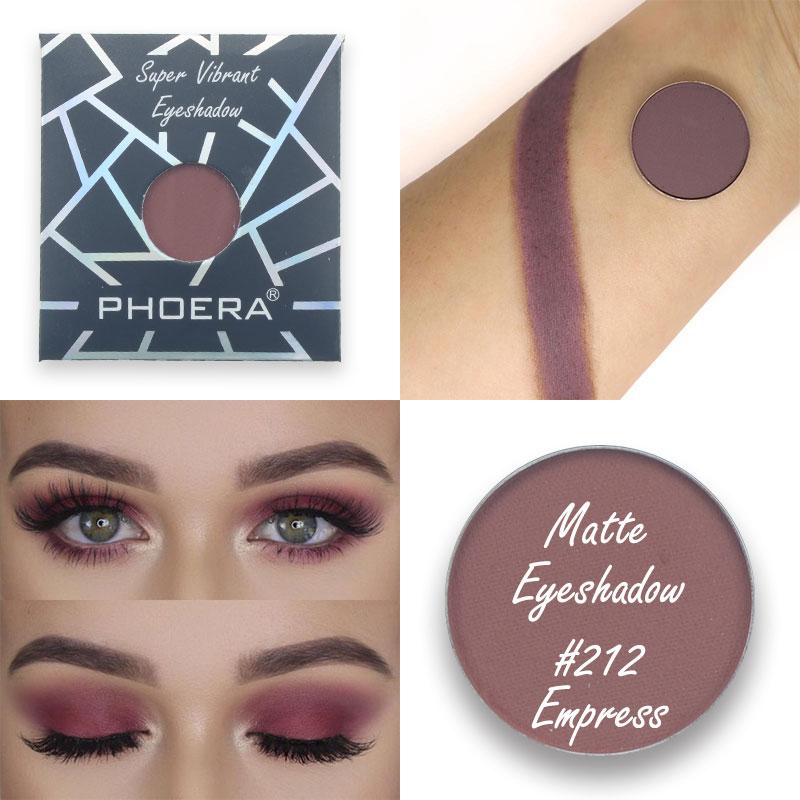 PHOERA 12 Colors Natural Matte Eyeshadow Monochrome Mini Waterproof Makeup Eyeshadow Palette Eye Beauty Make Up Cosmetic TSLM2