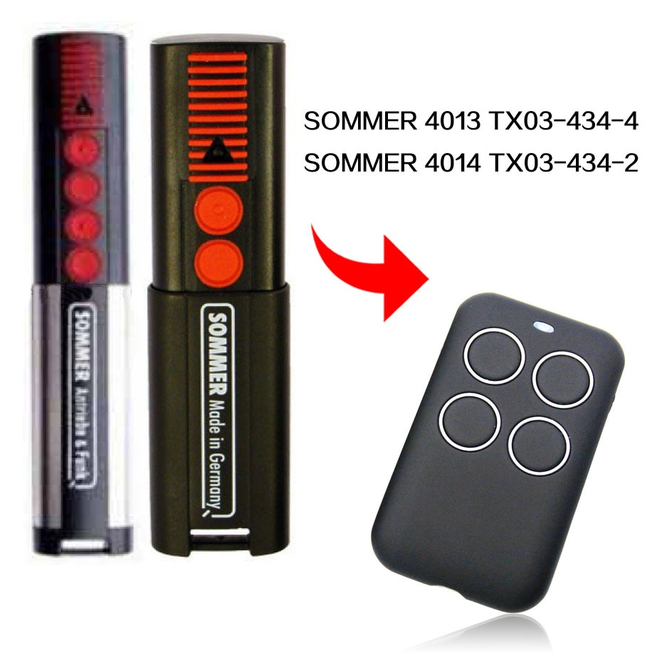 SOMMER 4013 TX03 4014 TX03 434-2 control remoto puerta garaje puerta SOMMER control remoto 433,92 MHz