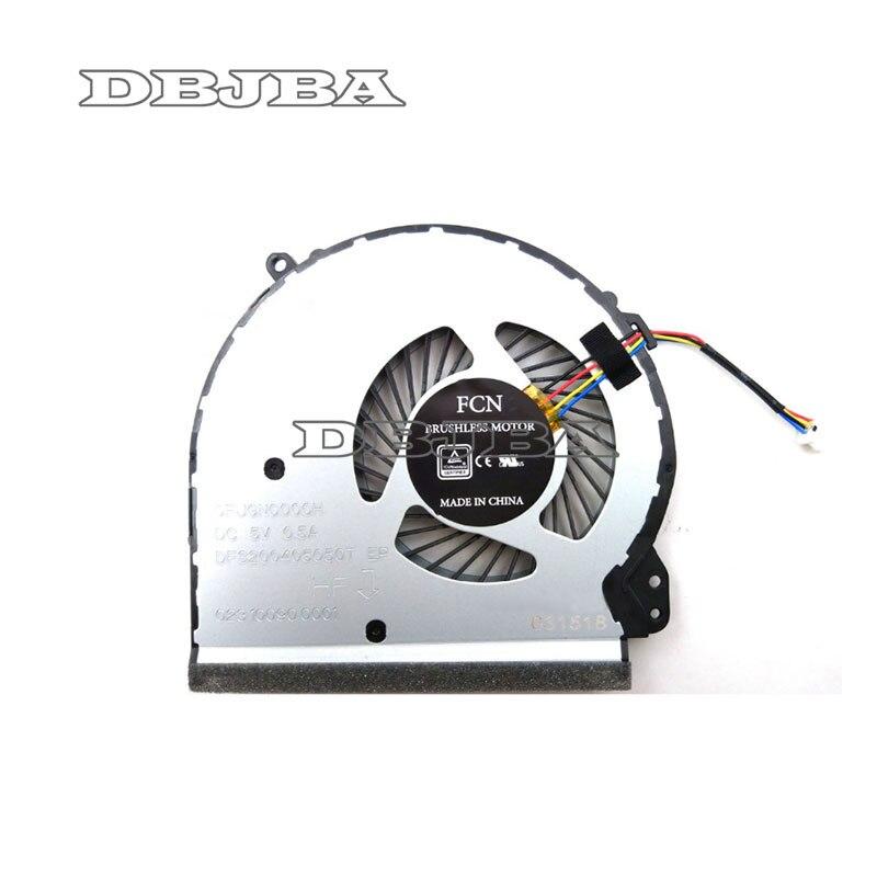Para HP 17-X 17-Y 17-BS022NR 17-bs061st 17-x051n 17-x116dx TPN-M121 DFS200405050T 926724-001 856682-001 856681-001 nuevo ventilador de la CPU