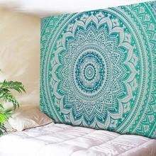 Tapete de parede boêmio grande, mandala, indiano, praia, toalha, poliéster, cobertor fino, lenço, cobertor