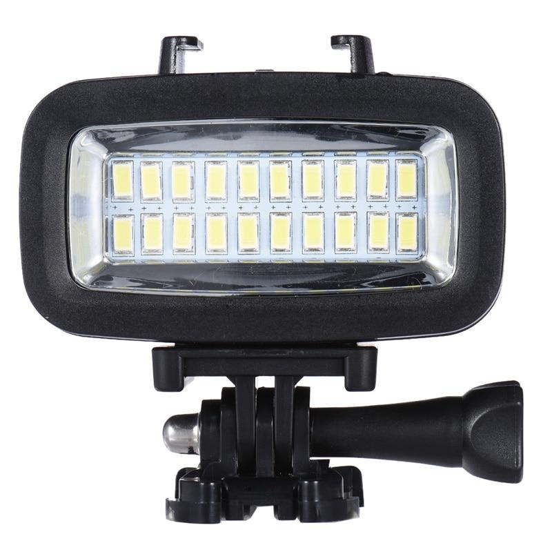 JABS potencia 700LM buceo vídeo Luz de relleno lámpara LED de iluminación con difusor para GoPro Cámara de Acción SJCAM