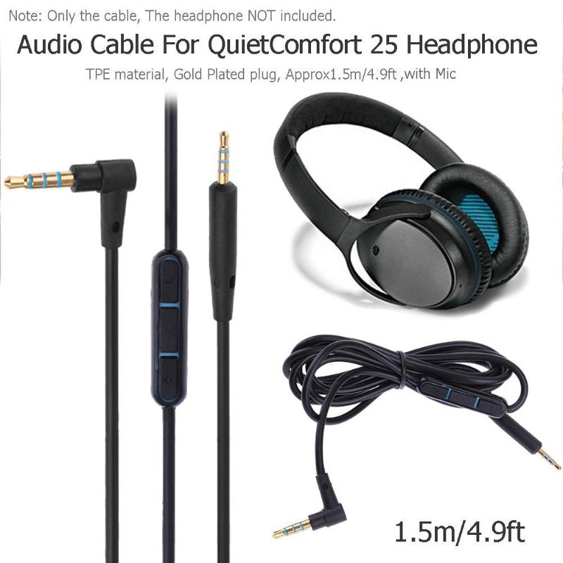 Auriculares ALLOYSEED azul/negro, adaptador de Audio de 3,5mm, Cable de Cable para auriculares Bose con micrófono