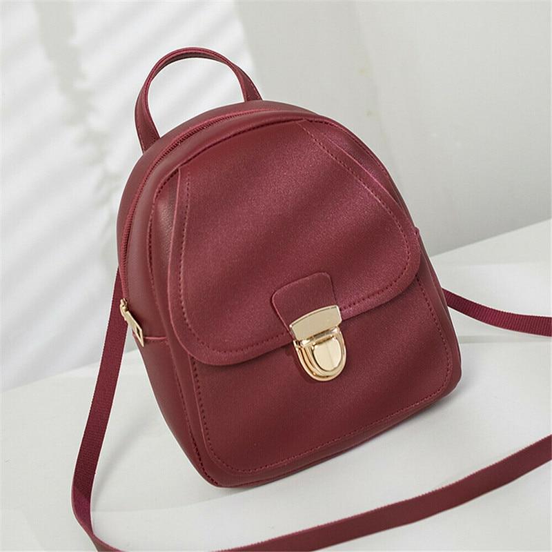 ¡Novedad de 2019! bolso para mujer, Mini mochila de piel sintética, mochila escolar, bolsa de viaje, bolsa de calle de moda encantadora