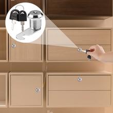 Nova alta qualidade liga de zinco cam cilindro fechaduras gabinete gaveta armário caixa de correio arquivo fechaduras gabinete com 2 chaves
